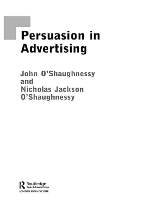 an analysis of the four main elements of persuasion in public declarations and advertisements Abstract - a general structure is proposed for constructing models of the way advertising works (advertising communication models) four fundamental models with a total of eight paired variations are identified.