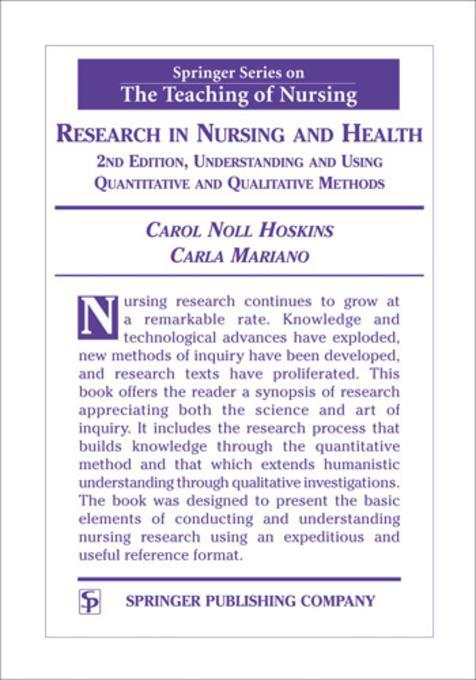 a qualitative and quantitative research of journal of advanced nursing Verification strategies for establishing reliability and validity in qualitative research jm morse, m barrett, m mayan, k olson, j spiers international journal of qualitative methods 1 (2), 13-22 , 2002.